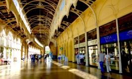 Inside the colonnade, one day in Marianske Lazne