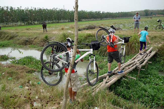 Boat, cycle and Cu Chi Tunnels tour from Ho Chi Minh