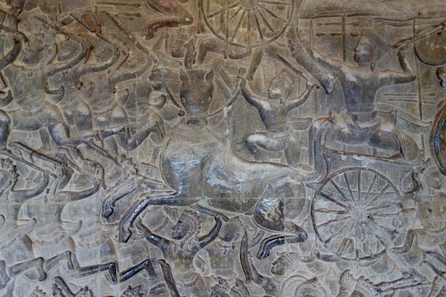 Carving at Angkor Wat Siem Reap