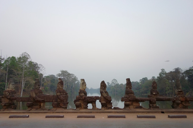 Churning the Ocean of Milk causeway Angkor Thom
