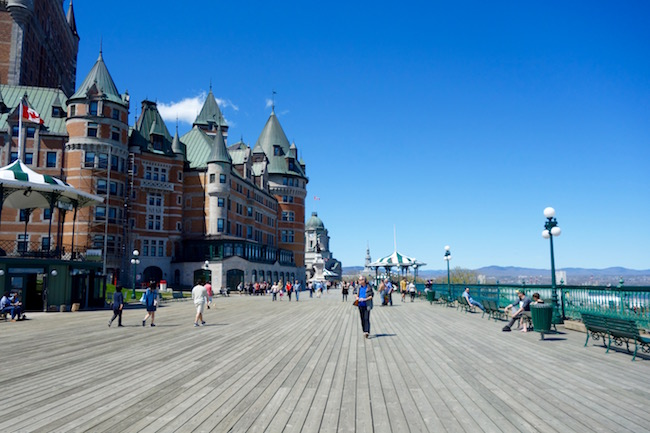 Stroll Dufferin Terrace, where to go in Old Quebec