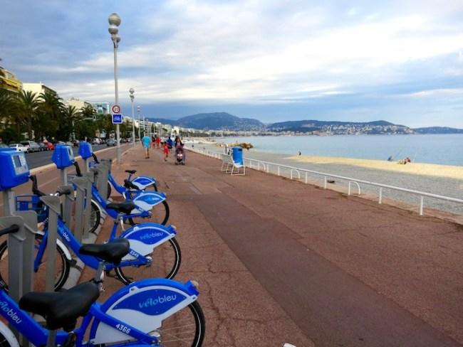 Velo Bleu and Promenade des Anglais Nice