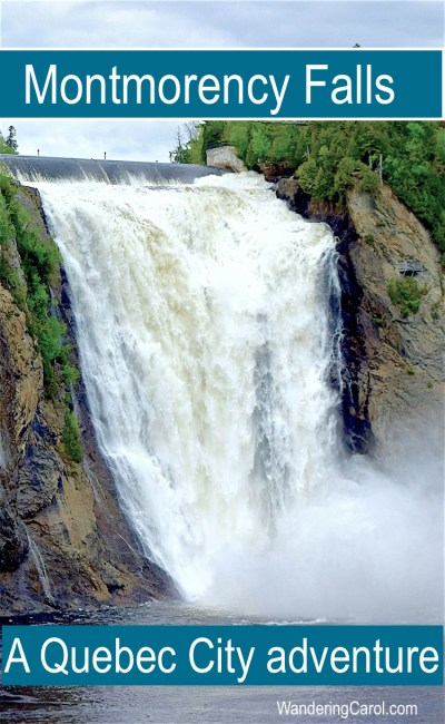 Montmorency Falls Quebec is a top excursion from Quebec City, Canada. From scenic views and a historic manor to adventure travel activities such as a via ferrata and ziplining, visitors will find plenty to do.