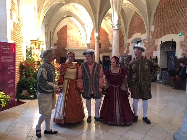 Renaissance dancers at Chateau Amboise