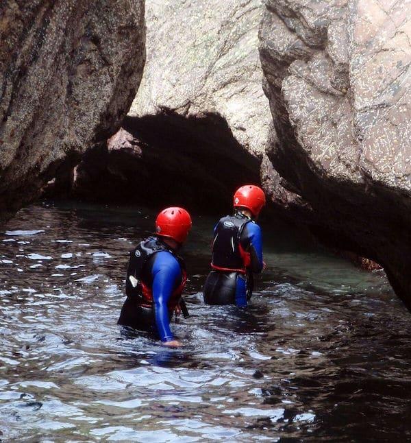 Adventure travel in Wales, coasteering