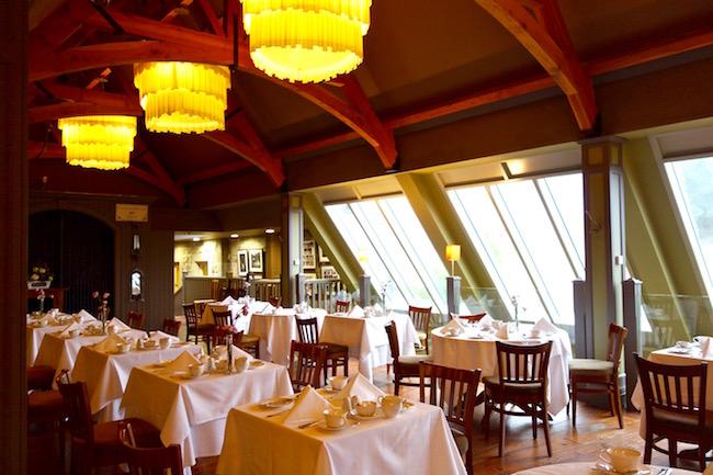 Snaffles restaurant Lodge at Castle Leslie