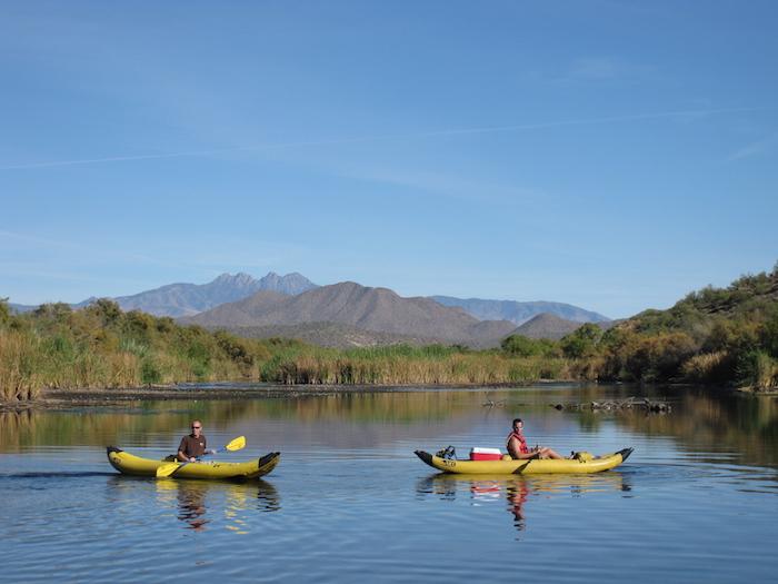 Salt River kayaking near Scottsdale and Phoenix