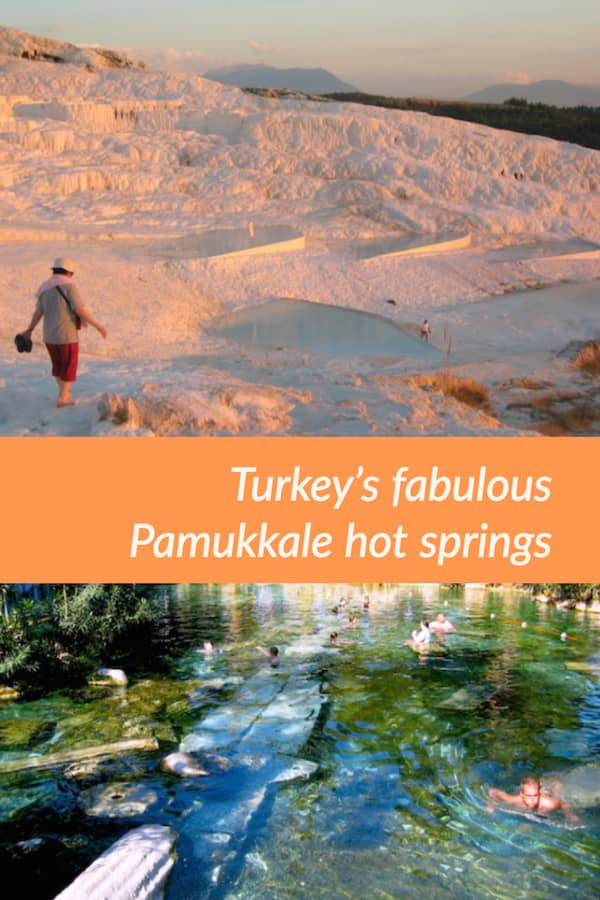 Pamukkale hot springs and the stunning scenery of the white hill