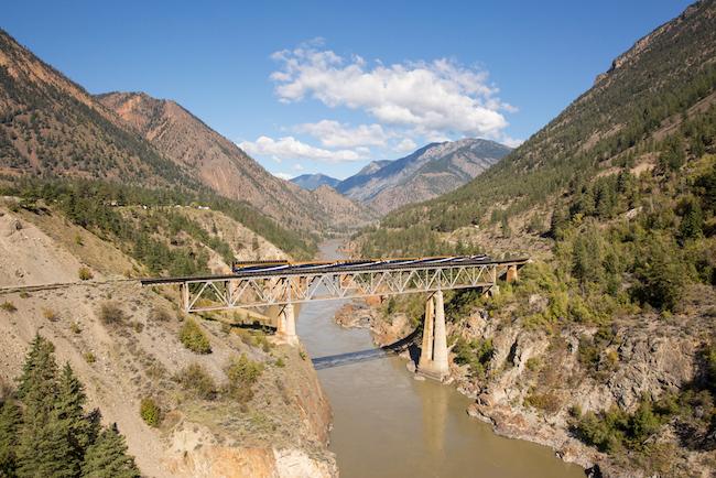 Rocky Mountaineer Canada on Fraser Bridge