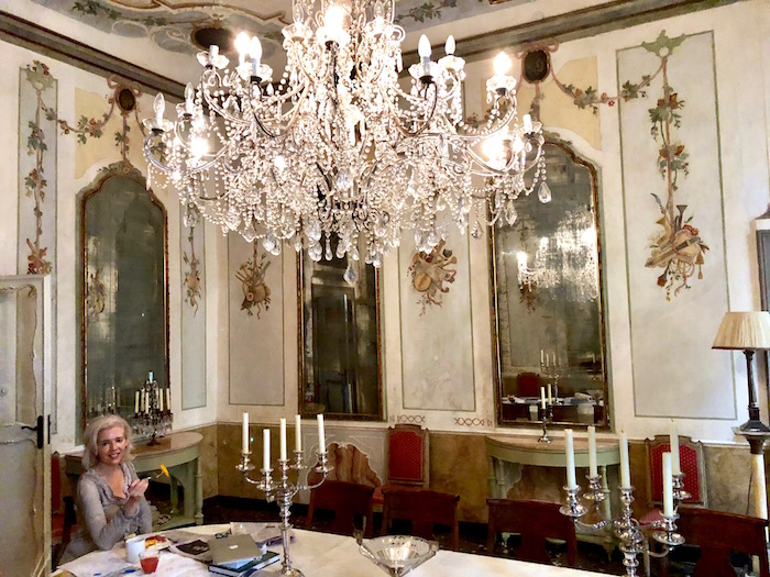 Dining room in our luxury Venice apartment