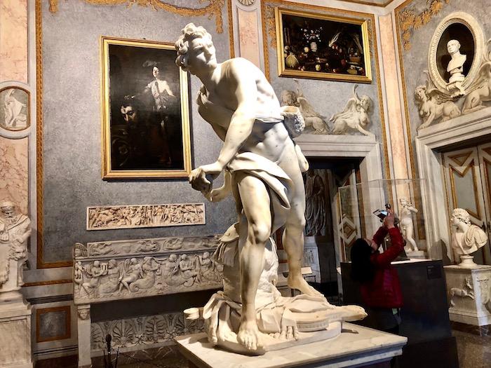 Bernini sculptures in Rome, David in the Galleria Borghese