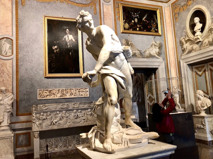 Bernini sculptures in Rome, David in the Galleria Borghese