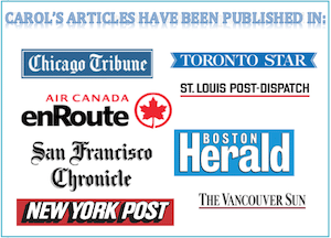 Carol Perehudoff published in top media, logos for newspapers and magazines