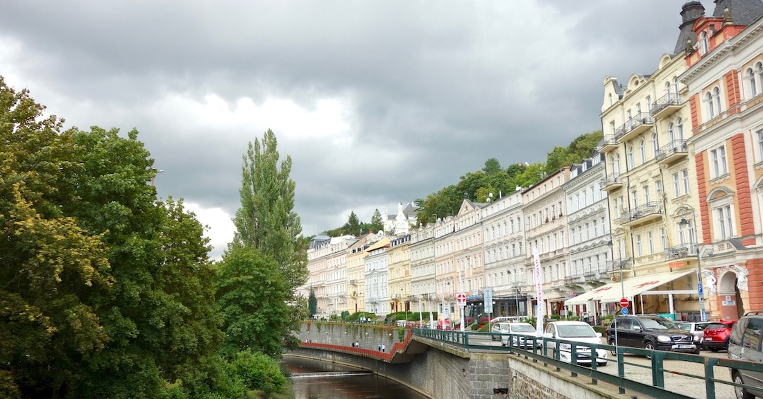 Spa town near Prague, Karlovy Vary promenade