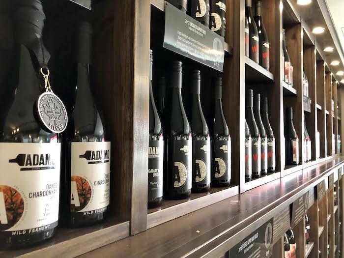 Hockley winery, Adamo Estates bottles of wine