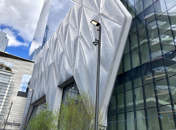 The Shed is one of New York's new attractions. This is an exterior view