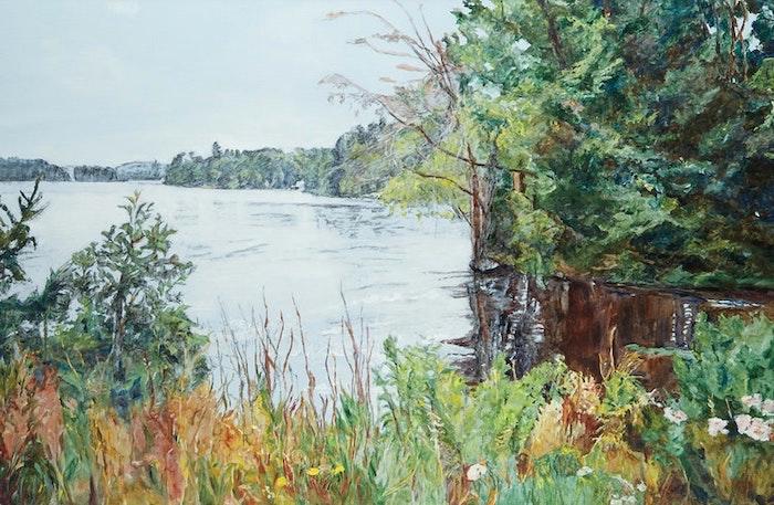 Painting of Emma Lake, Saskatchewan by artist Dorothy Knowles