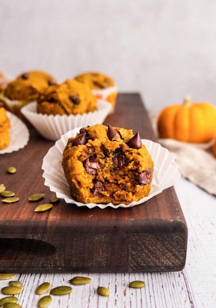 vegan pumpkin chocolate chip muffin recipe
