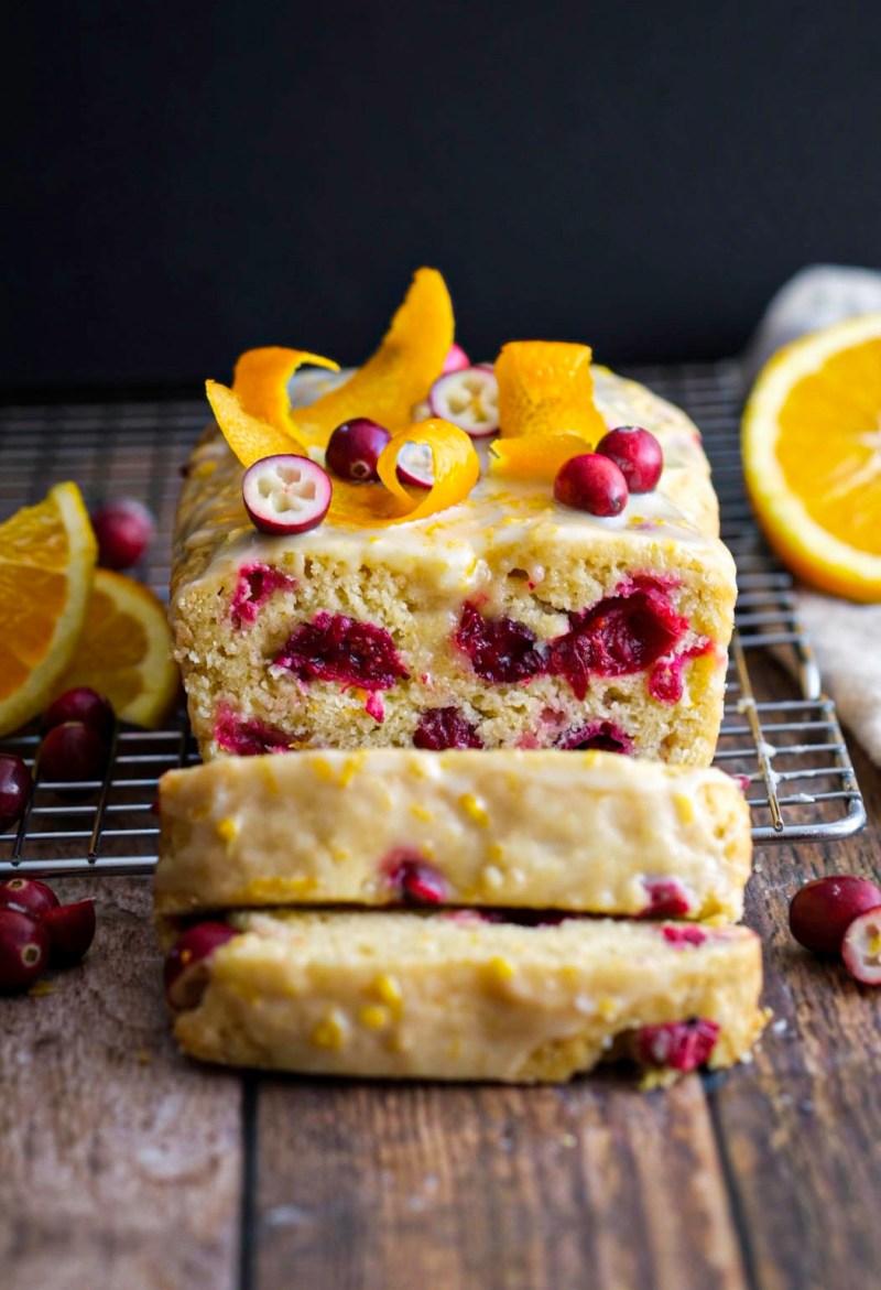 Vegan orange cranberry loaf cake recipe