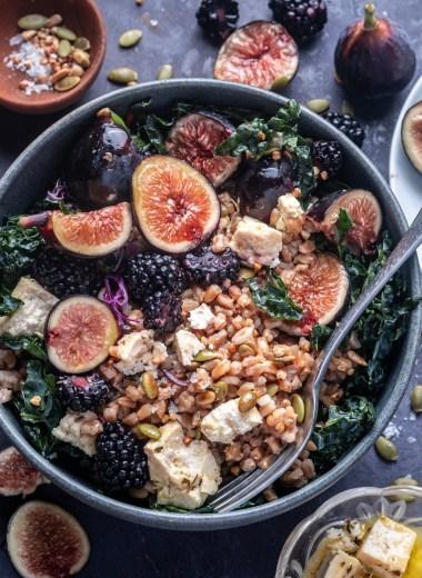 Fig and Farro grain bowls