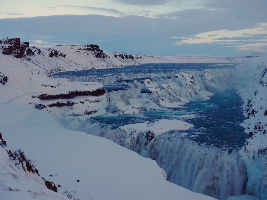 Gullfoss Waterfall Iceland Winter Road Trip