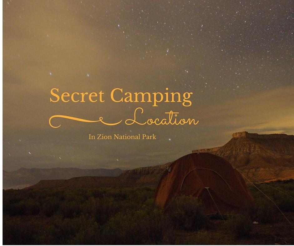 Secret Camping in Zion