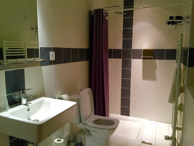 The cosy private bathroom