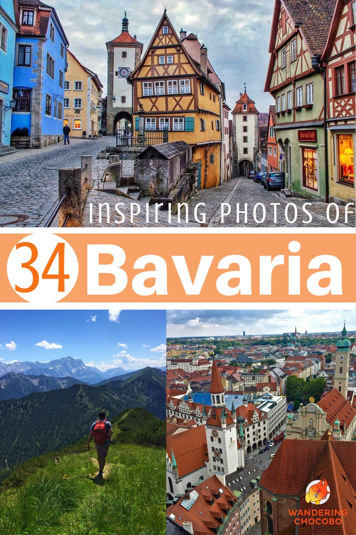 Book your next trip to Bavaria with these 34 stunning photos to inspire you to visit beautiful Bavaria, Germany. Explore charming German castles, wander fairytale European villages, and lush German landscapes.