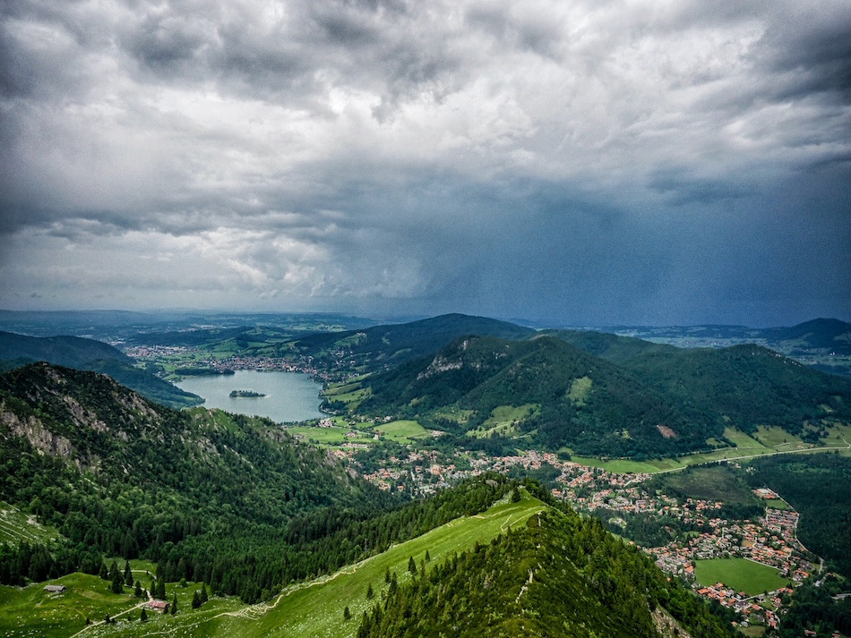 Hiking Brecherspitze looking at Schliersee Bavaria Germany Wandering Chocobo
