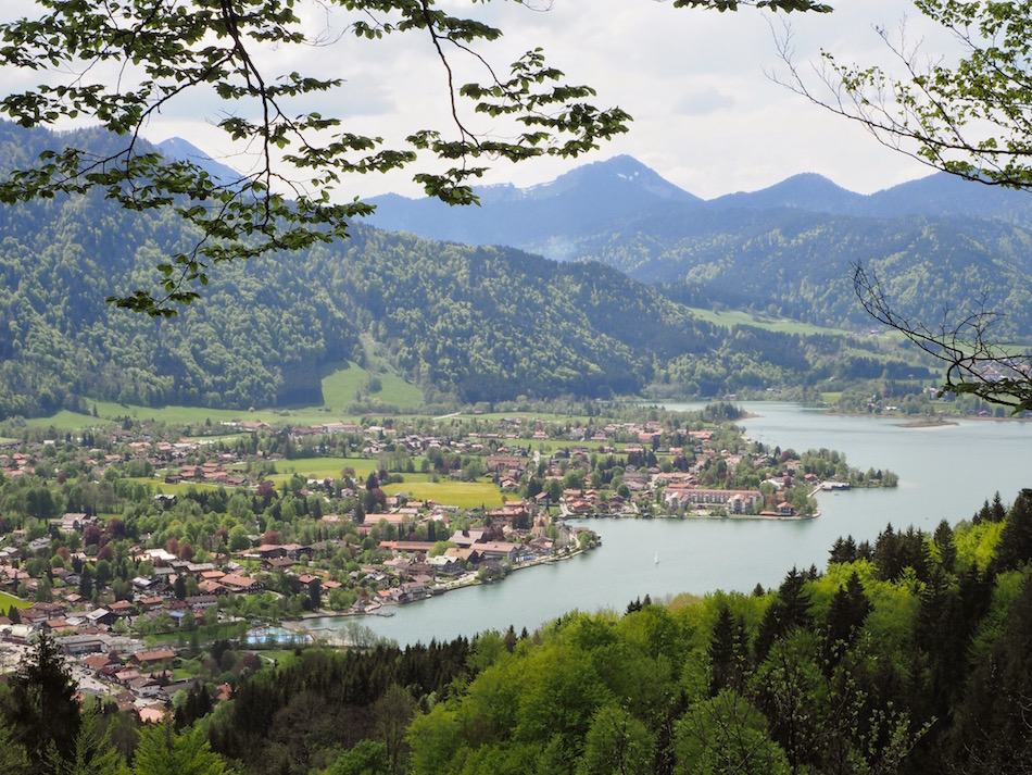 Tegernsee town in Autumn