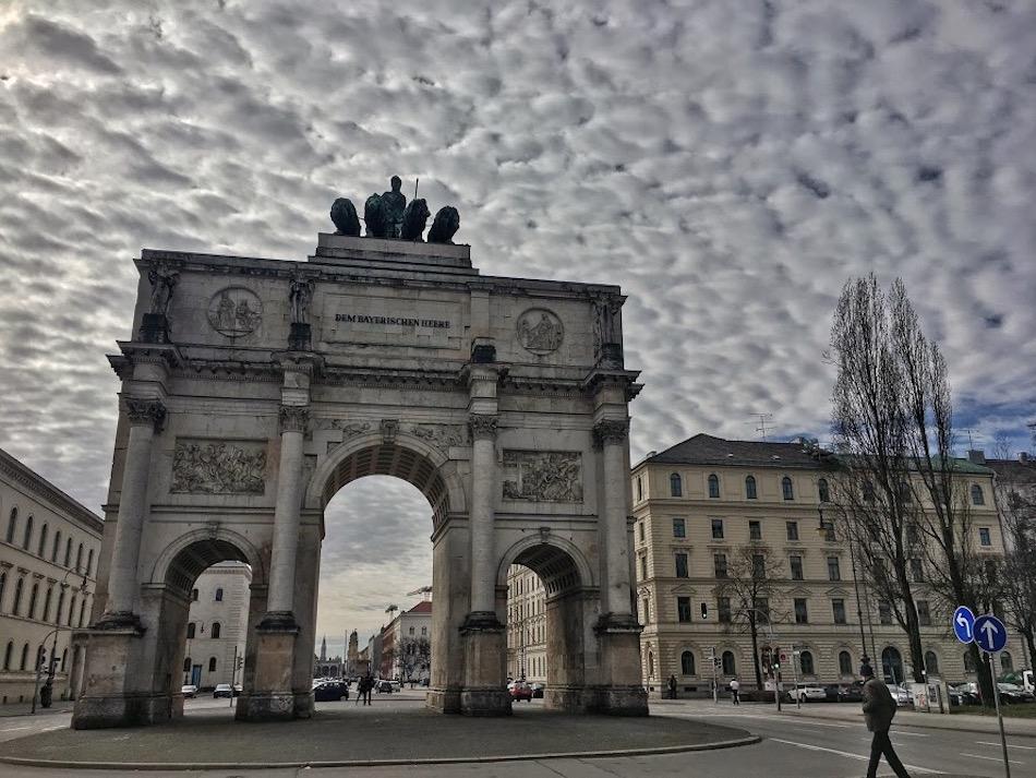 Siegestor Gate Munich Bavaria Germany