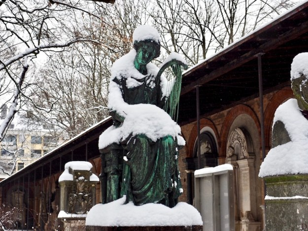 Things to do in Munich, Germany. See the Graveyard in Winter