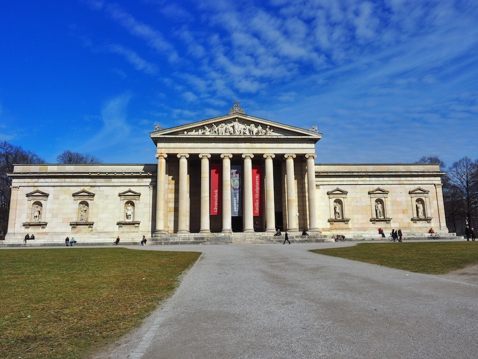 Things to do in Munich in the winter. Museum in Munich at Königsplatz.