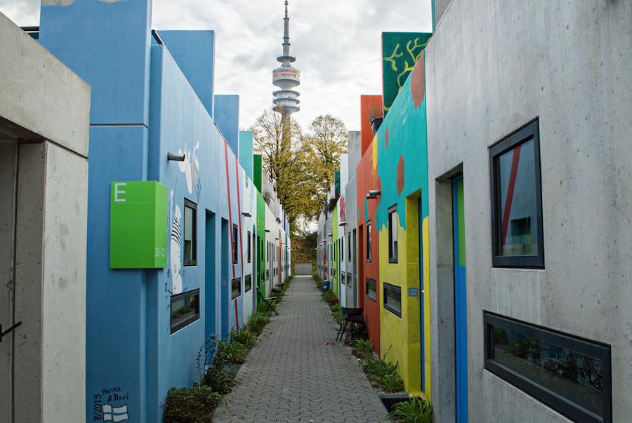 Olympia dorf Munich street art