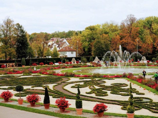 Ludwigsburg Schlossgarten castle and garden in Germany location of the world's largest pumpkin festival.