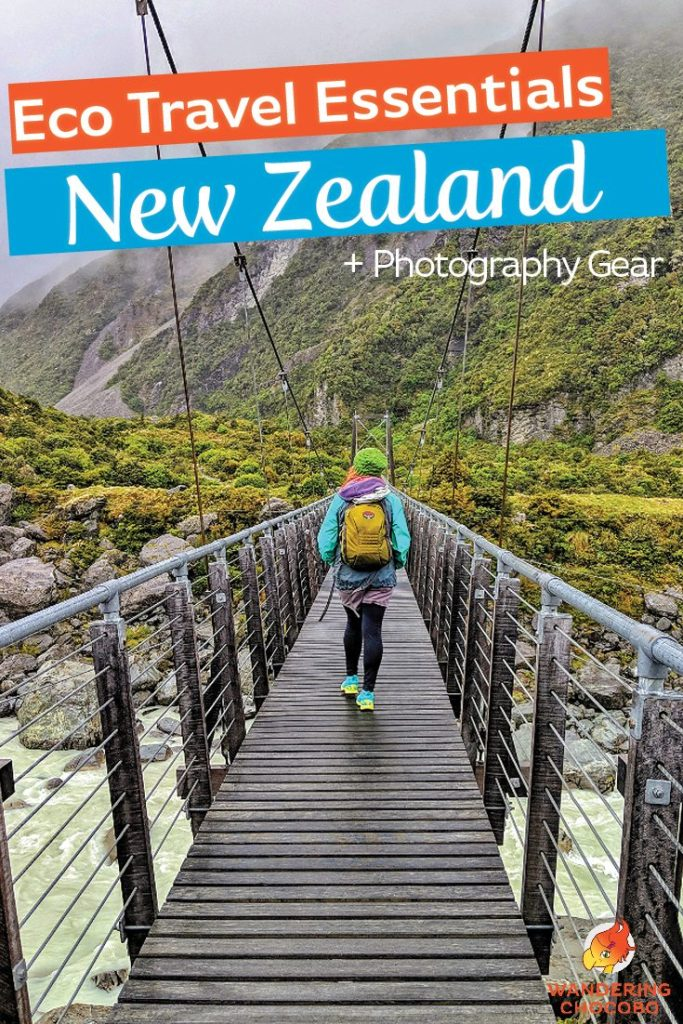 The essential New Zealand packing guide. What to pack for an eco-friendly trip to New Zealand including the North and South Island during summer and shoulder seasons.