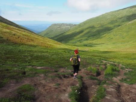 Hiking Arctic Valley Alaska