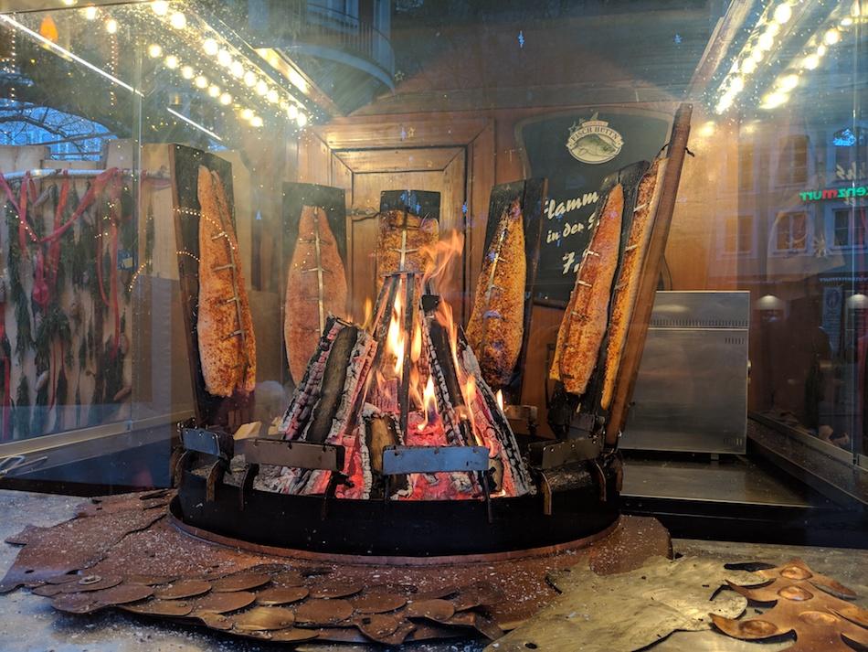 FlammFisch German Christmas Market Food