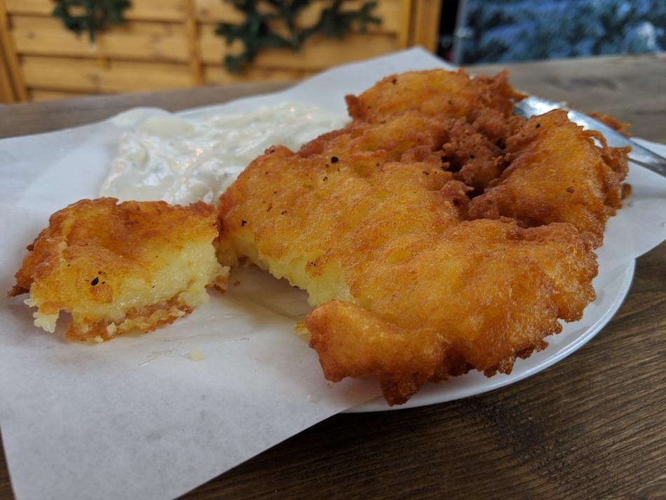 Kartoffelpuffer Reibekuchen German Christmas Market Vegetarian Food