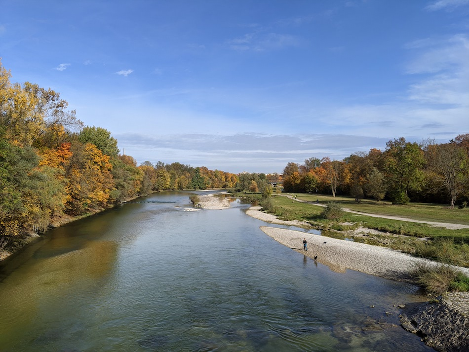 Isar River Banks of Munich