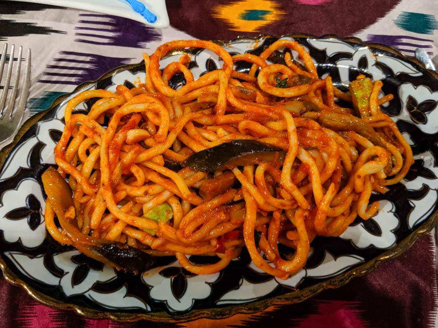vegetarian food bukhara laghman