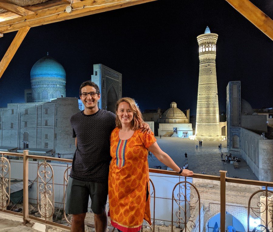 couples travel in Uzbekistan