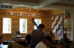 Enjoying the music at the Floyd Country Store