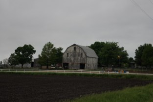 This old barn is located just down the road from the campground