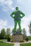 Green Giant Statue in Blue Earth, MN
