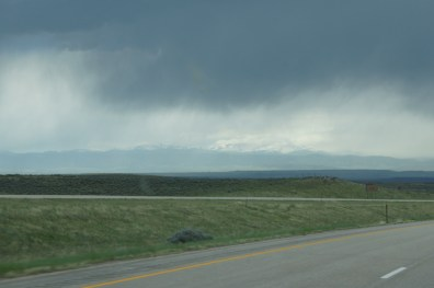 Storm over the Bighorn Mountains in Wyoming