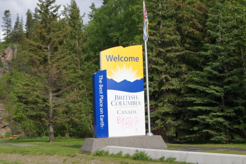 Leaving Alberta behind, we entered British Columbia early in the day