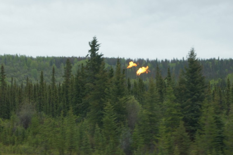 We passed by several oil fields