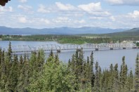 We crossed the Nitsutlin Bay Bridge to the town of Teslin on the other side