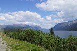 On the South Klondike Highway on the way to Skagway